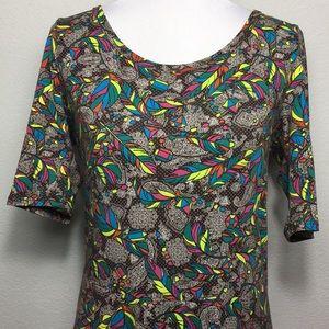 Ana LuLaRoe Maxi Dress XL like new feathers